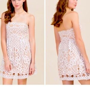 SOLD Giselle Strapless Lace Dress by Francesca's